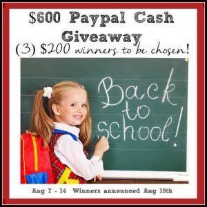$600 Paypal Cash Gieveaway