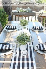 How to Make A Beautiful Black and White Tablescape