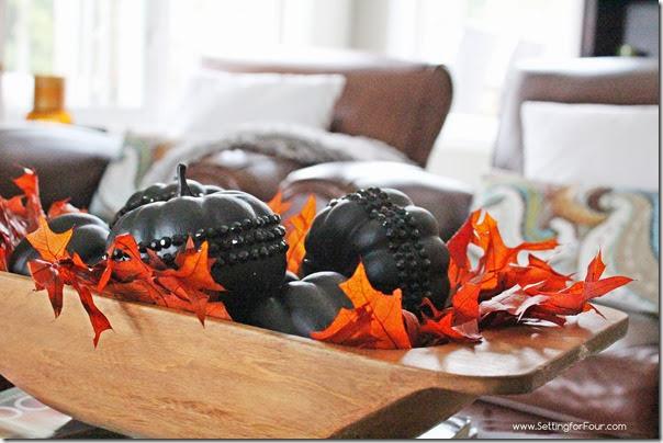 DIY Glam Crystal Pumpkin Tutorial | www.settingforfour.com