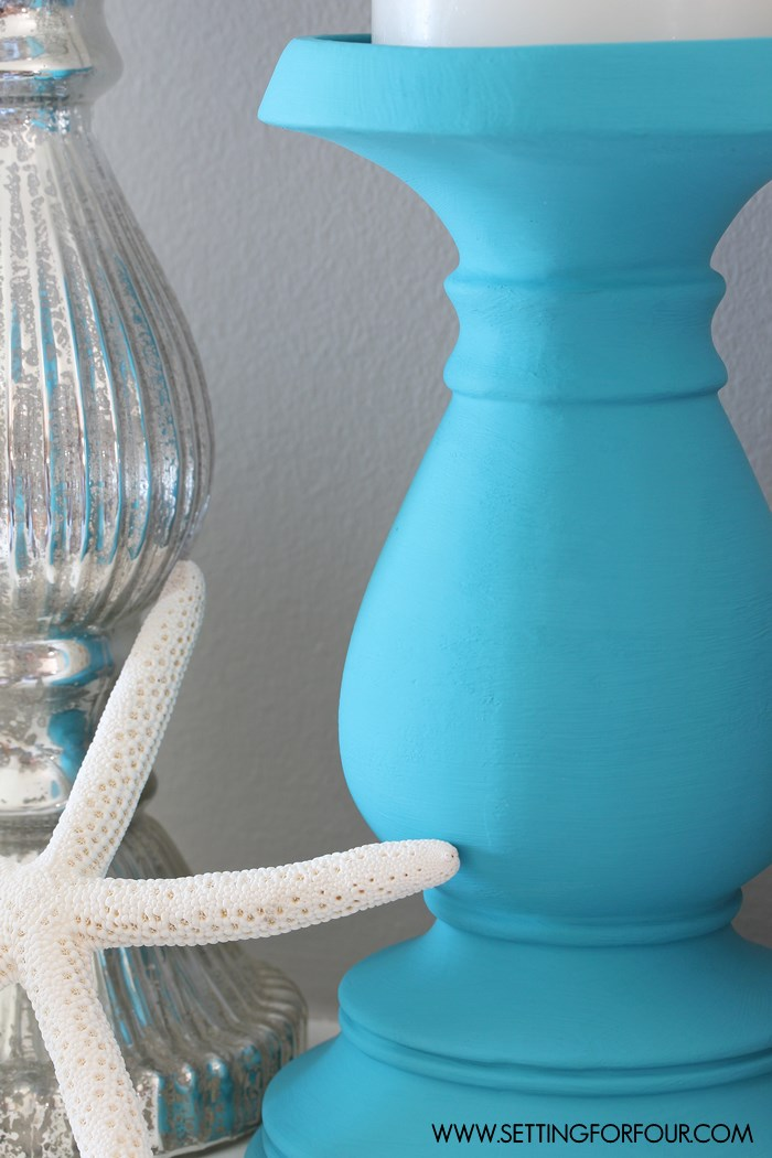 DIY Painted Candle Holders