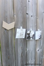 DIY Dorm Room Decor Idea –  Painted Instagram Photo Holder
