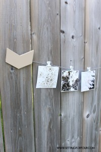 DIY Home Decor Idea! Make this Easy and Quick Painted Instagram Photo Holder. Hang your Instagram photos and old Polaroids from it for beautiful wall decor!