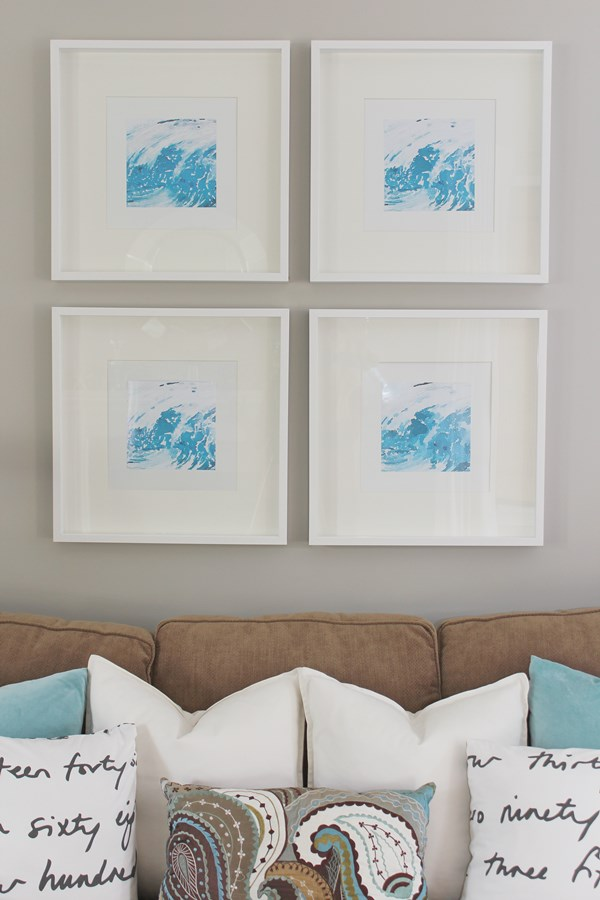 DIY Watercolor Graphic Wall Art