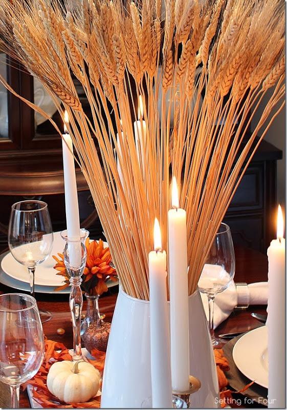 Fall Tablescape and Centerpiece Ideas | www.settingforfour.com