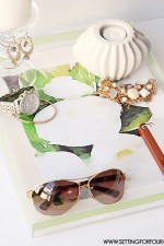 DIY Waterlogue Lucite Tray