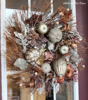 Metallic Glam Fall Wreath