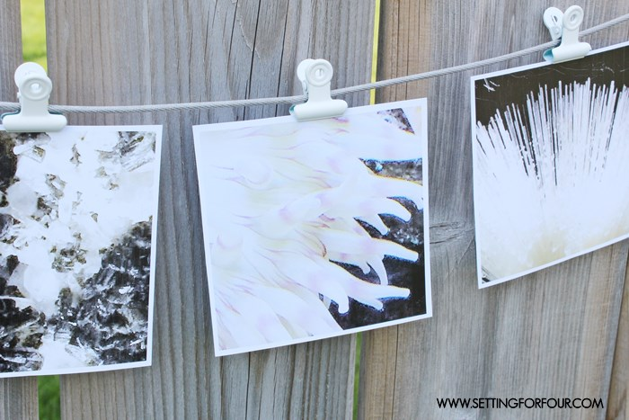 DIY photo holder craft idea. Make some up for gifts!