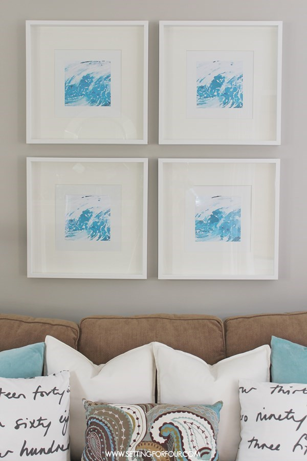 Easy Diy Watercolor Abstract Wall Art Setting For Four