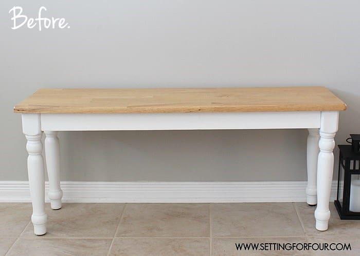 Thrift Store Home Decor Ideas Part - 47: Painted Bench Makeover U2013 DIY Home Decor Idea