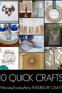 10 Quick Crafts to Make | www.settingforfour.com