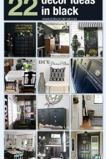 22 DIY Black Interior Decorating Ideas
