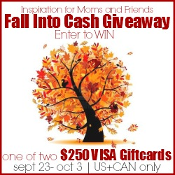 Enter the Fall into Cash Giveaway to win two $250 Visa Giftcards! | www.settingforfour.com