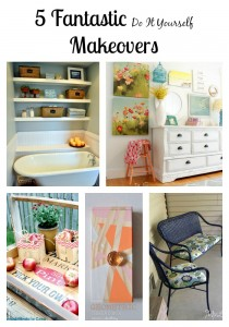 5 Fantastic DIY Makeovers that are budget friendly for your home.