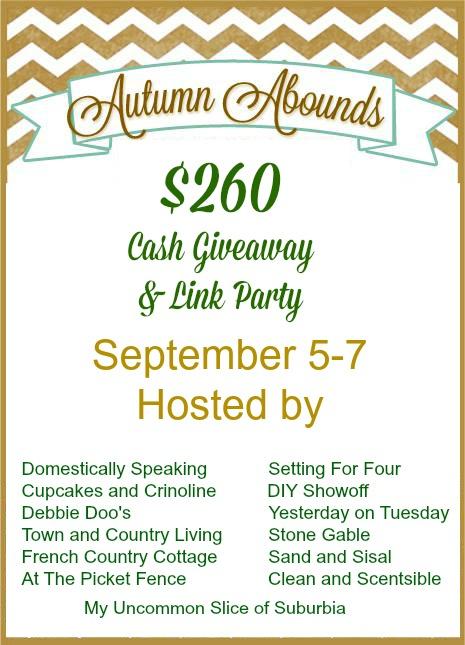 Autumn Abounds $260 Cash Giveaway | www.settingforfour.com