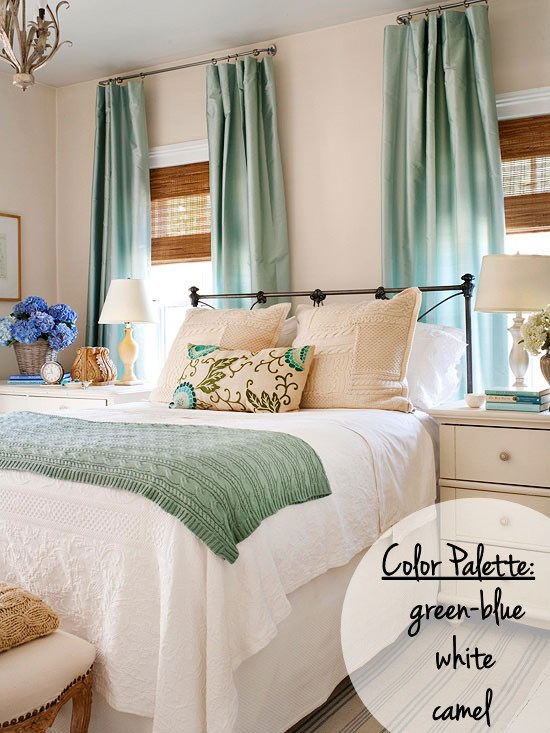 Bedroom color inspiration setting for four for Bedroom inspiration color palette