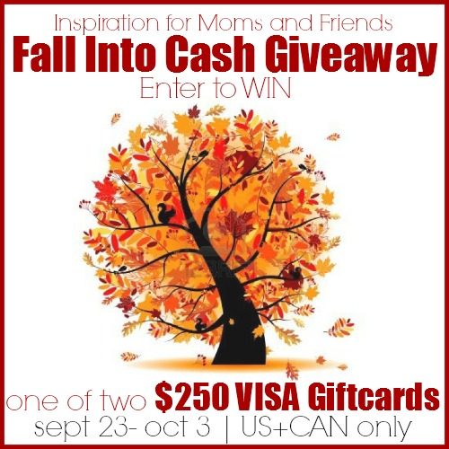 Enter to win one of two $250 Visa Giftcards in the Fall into Cash Giveaway | www.settingforfour.com