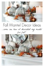 Fall Mantel Decor – Autumn Abounds Blog Hop
