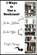 Three Ways to Use a Bookcase for Storage and Organization