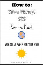 How to Save Money on your Electricity Bills with Home Solar | www.settingforfour.com