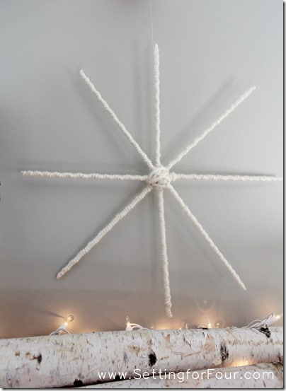 DIY Snowflake from Setting for Four