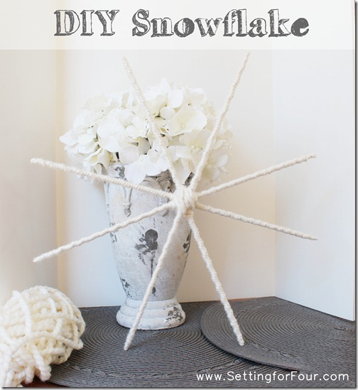 Make a Snowflake from Setting for Four #diy #craft #home