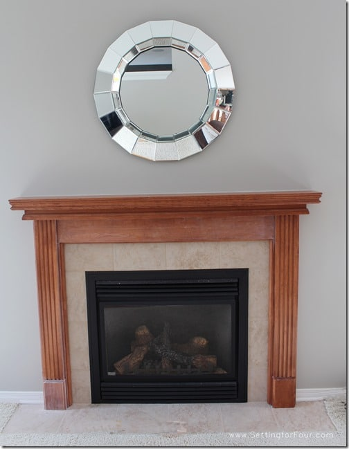 My Fireplace Mantel Reveal // A Before and After Makeover with ...