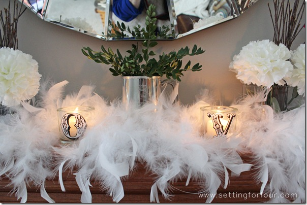 How to decorate a Beautiful Mantle for Valentine's Day from Setting for Four.  See how to here! https://www.settingforfour.com/2013/02/how-to-decorate-mantle-for-valentines.html  #mantle #valentine #diy #decor