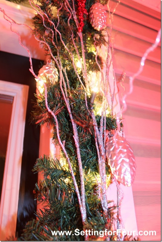 Christmas Entryway from Setting for Four #christmas #entryway #holiday #outdoor