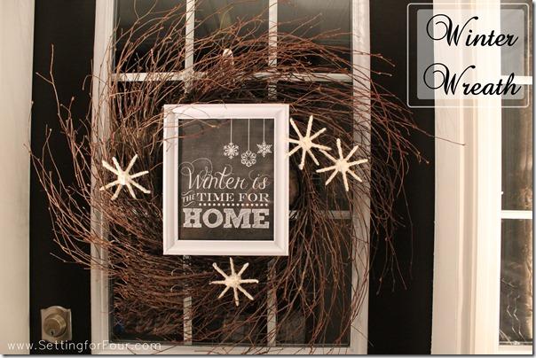 Winter wreath diy from Setting for Four #diy #craft #tutorial