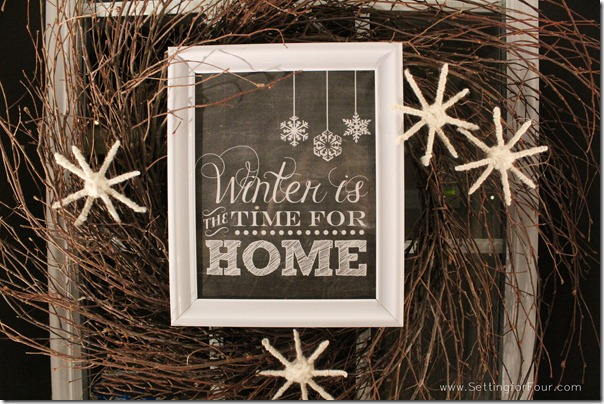 Diy Winter Wreath Tutorial With Printable Setting For Four