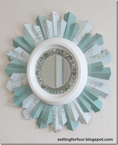 DIY Beaded Sunburst Mirror | Setting for Four
