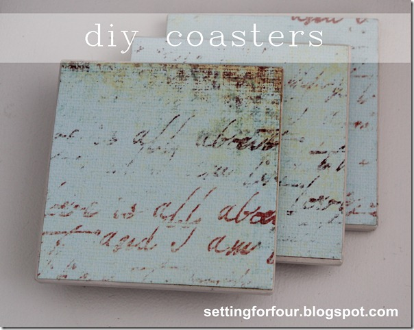 DIY Mod Podge and Paper Coasters Tutorial | www.settingforfour.com