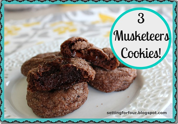 Three Musketeer Cookies from Setting for Four #diy #craft #gift #tutorial  #cookie #recipe