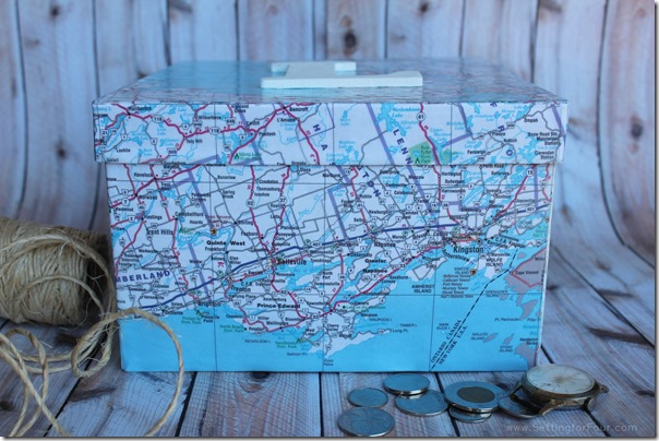 How to make a Keepsake Box with Maps
