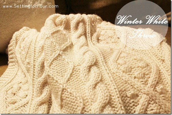 Winter White Throw from Setting for Four #winter #white #throw #knit #decor