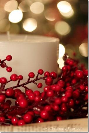 Christmas at Setting for Four #Christmas #Holiday #Candle