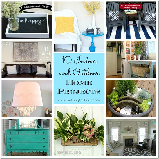 10 Indoor and Outdoor Home Projects from Setting for Four