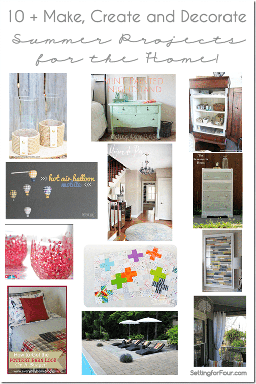 10   Make,Create and Decorate Summer DIY's for the Home from Setting for Four