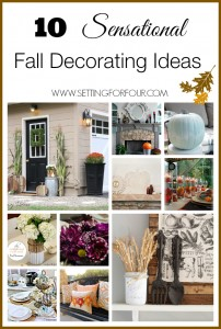 See these 10 Sensational Easy Fall Decorating Ideas | www.settingforfour.com