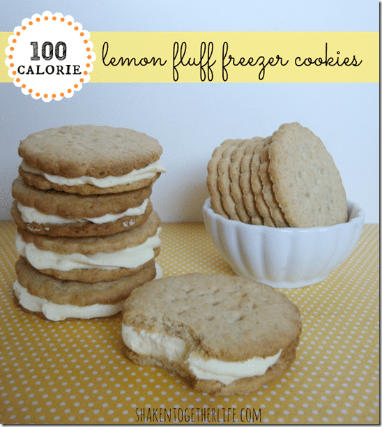 100 calorie lemon fluff freezer cookies BLOG