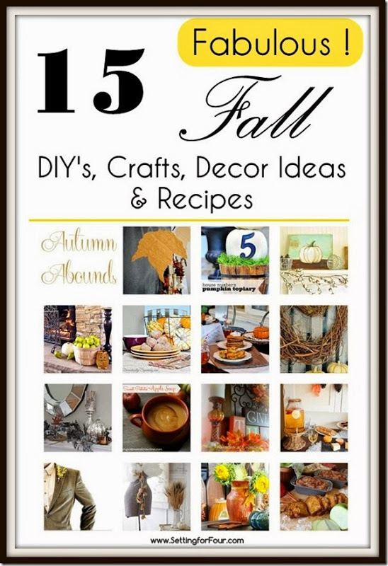 Fabulous Fall Inspiration for your family and home! See these 15 Fabulous Fall Decor Ideas DIY's, Crafts, Decor Ideas and Recipes.