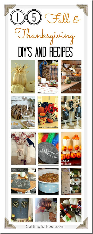 15 Inspirational Fall and Thanksgiving DIY's and Recipes Setting for Four