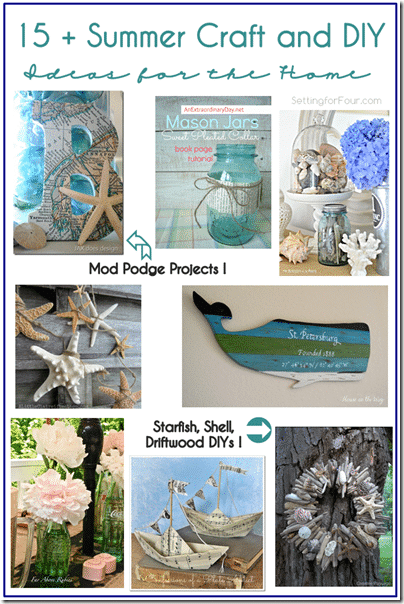 15  Summer Craft and DIY Ideas for the Home from Setting for Four