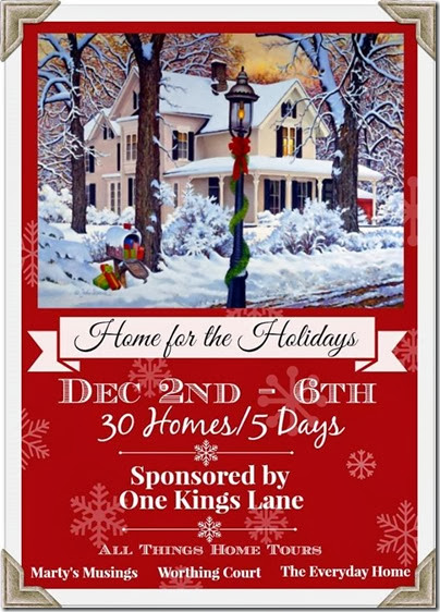 30 Christmas Home Tours at Setting for Four