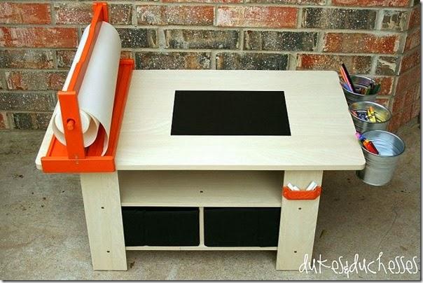 A Repurposed Art Table
