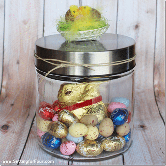 Easter gift in a jar, simple and easy - Setting for Four #easy #gift #easter