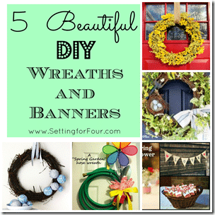 5 DIY Wreath and Banner Ideas from Setting for Four