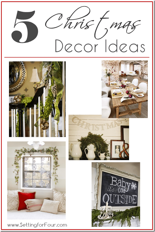 5 Fabulous Christmas Decor Ideas - Setting for Four