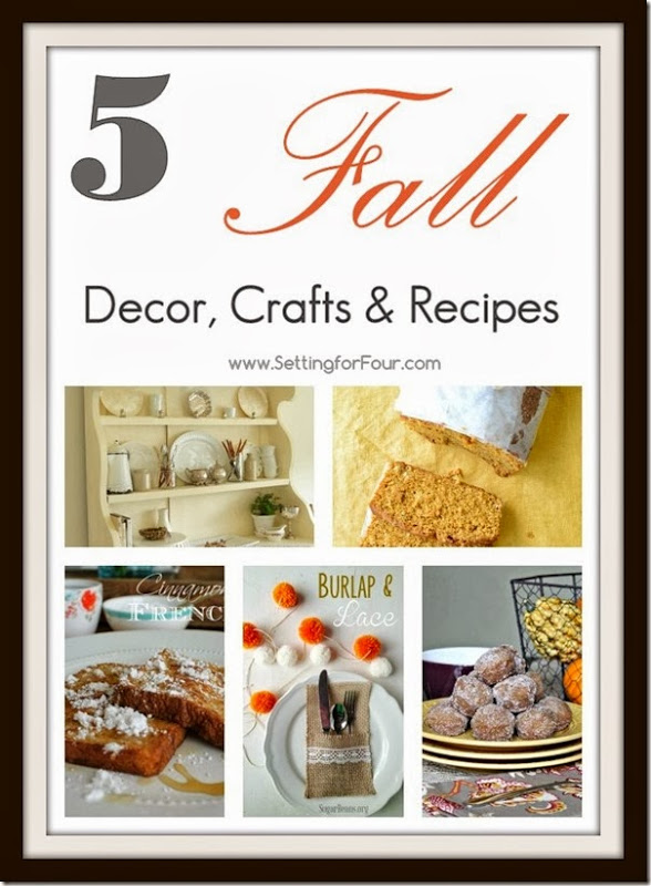 5 Fall Decor Crafts & Recipes from Setting for Four