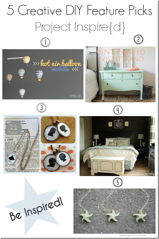 5 Creative DIY Feature Picks from Setting for Four